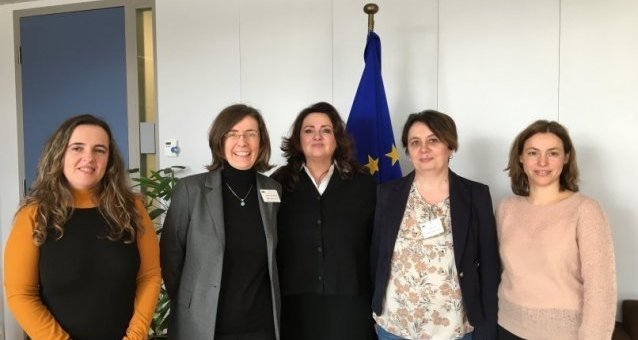 EWL's President and Vice-Presidents meet Commissioner for Equality Helena Dalli to discuss women's rights in Europe and the upcoming EU strategy on equality between women and men