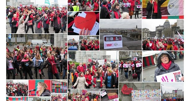 ONE BILLION RISING BRUSSELS 2014: The heart of Europe beats for justice!