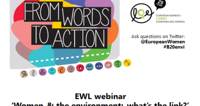 Inspiring EWL webinar on 'Women and the environment : what's the link?', 19 June 2015