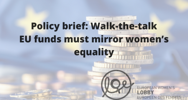 EWL policy brief: EU funds must mirror women's equality