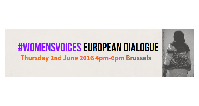 Register NOW for our #womensvoices final event - 2 June 2016 Brussels